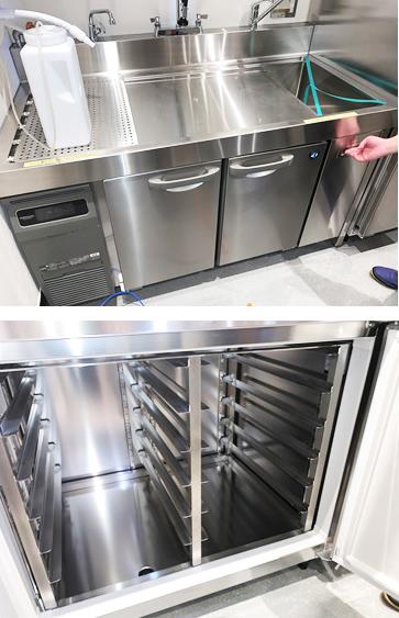 下調理用プレパレーションシンク付き冷蔵庫2