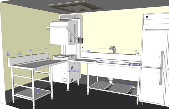 排気フード・ガス・給湯設備すべて不要な蒸気回収装置付き食器洗浄機