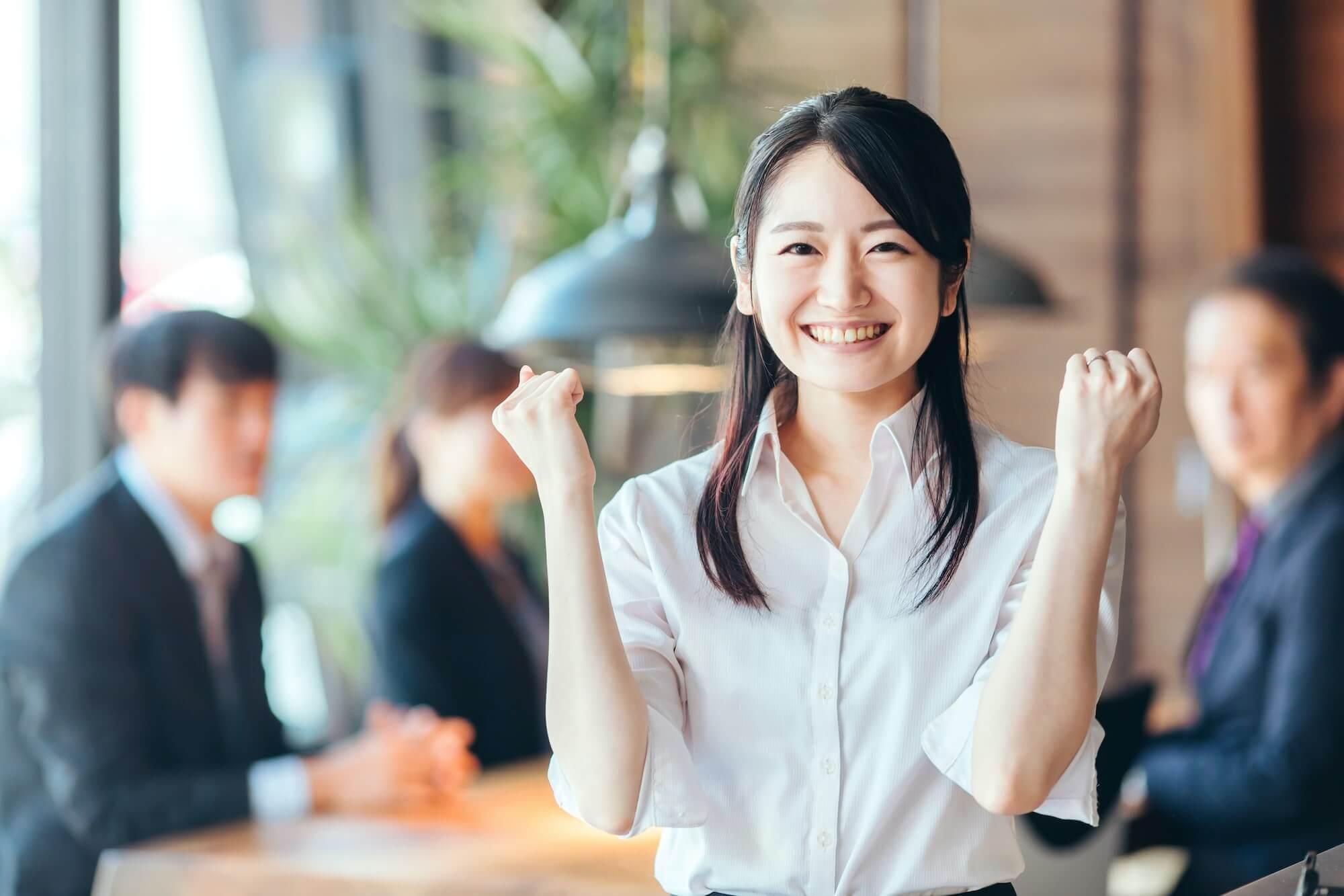 働きやすい環境で活躍する女性